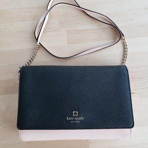 Kate Spade two tone saffiano leather crossbody bag